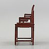 A chinese laqcuer armchair, 20th century.