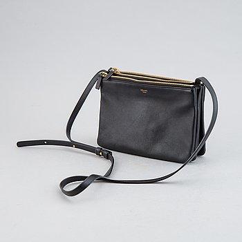 Céline, a black leather 'Trio Bag'.