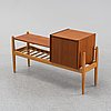 "Arne wahl iversen, a 1950/60s oak and teak shelf with drawers ""spectum"", ikea."