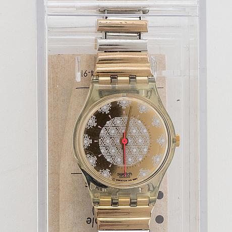 Swatch, perlace, wristwatch, 25 mm.