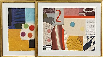 Max Papart, two carburundum signed and numbered 112/125.