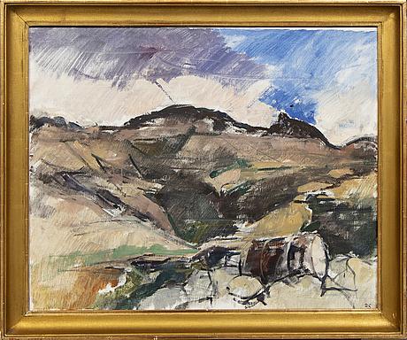 Hugo zuhr, oil on canvas signed.