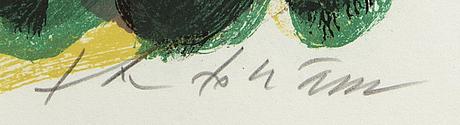 Theo tobiasse,  färglitografi signerad och numrerad ea 16/50.