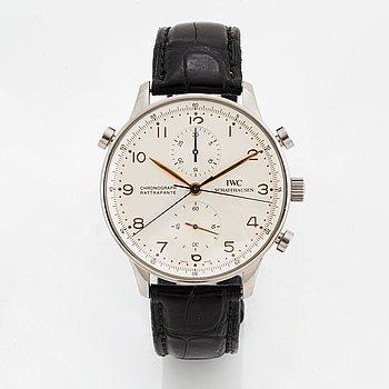 IWC, Schaffhausen, Portuguese, Rattrapante, kronograf(Split-Seconds), armbandsur, 41 mm.