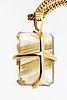 Chain and pendant, 18k gold and rutile quartz, balestra.