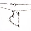 Pendant and chain, 14k whitegold brilliant-cut diamonds, total length approx 48 cm.