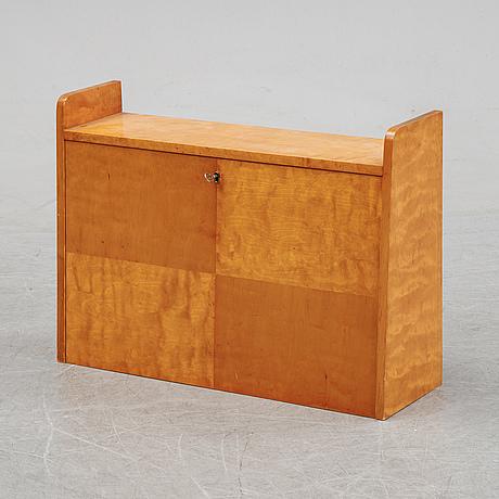 A birch wall desk, svenska möbelfabriken, 1940's.