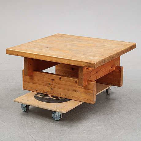 A pine coffee table from ikea, 1970's.