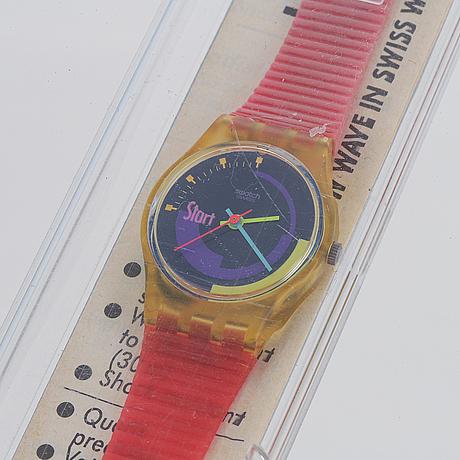Swatch, pink podium, wristwatch, 25 mm.