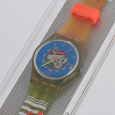 Swatch, coral beach, wristwatch,  25 mm.
