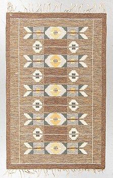 Ingegerd Silow, a carpet, flat weave, ca 195,5 x 125-127 cm, signed IS.