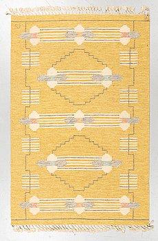 Ingegerd Silow, a carpet, flat weave, ca 203,5 x 134,5 cm, signed IS.