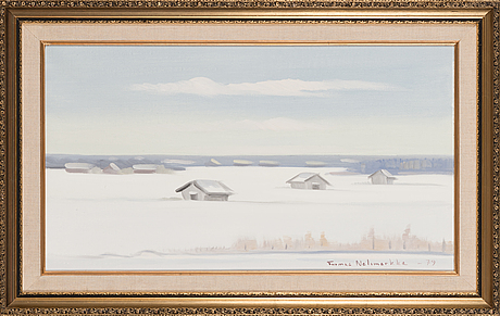 Tuomas nelimarkka, oil on canvas, signed and dated -79.