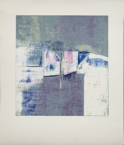 Anders österlin, 2 signed and numbered colour serigraphs.