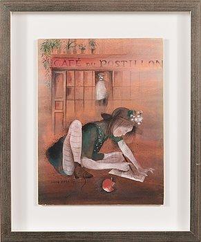 Kaarina Kaila, akvarell, signerad och daterad -74.