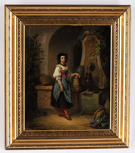 Johan christoffer boklund, oil on canvas, signed and dated münchen 1853.