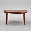 A 'herrgården' mahogany dining table by carl malmsten for bodafors dated 1968.