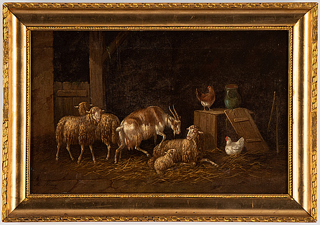Adolf nowey, oil on canvas,/panel, signed and presumably dated -86.