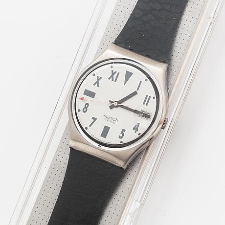 Swatch, stirling rush, wristwatch, 34 mm.