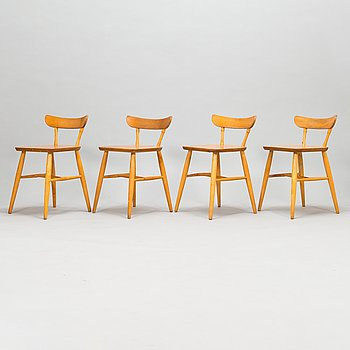 Four mid-20th century chairs.