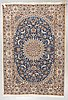 A carpet, old nain, part silk, ca 285 x 198 cm.