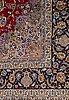 A carpet, old esfahan, part silk, ca 298,5 x 203 cm.