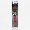 Swatch, chrono, flash arrow, wristwatch, chronograph, 36 mm.