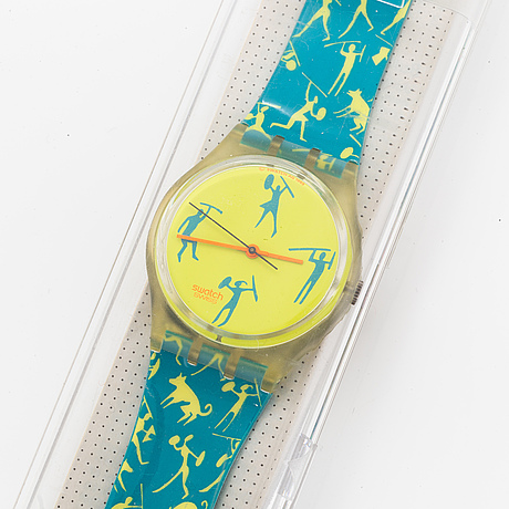 Swatch, african-can, wristwatch, 34 mm.