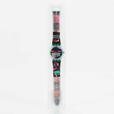 Swatch, rush for heaven, wristwatch 34 mm.