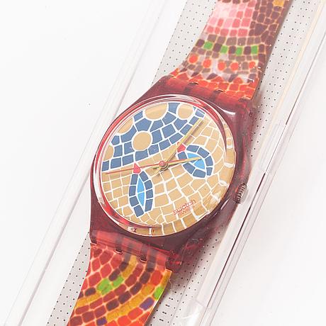 Swatch, ravenna, wristwatch, 34 mm.