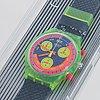 Swatch, chrono, grand prix, wristwatch, chronograph, 36 mm.