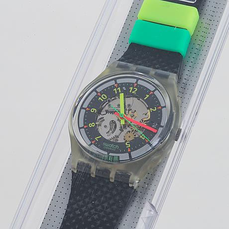 Swatch, black line, wristwatch, 34 mm.