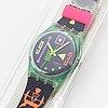 Swatch, stale fish, wristwatch, 34 mm.