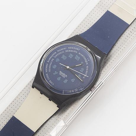Swatch, tender too, wristwatch, 34 mm.