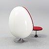 "Henrik thor-larsen, an ""ovalia"" easy chair and ottoman, for torlan ab, staffanstorp, sweden 1960-70's."