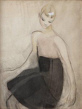 """562. Helene Schjerfbeck, """"Marta dansande (Svart kjol)"""" (Marta dancing [Black skirt] )."""