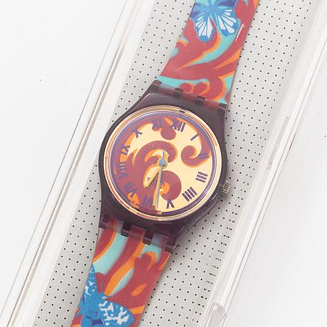 Swatch, fleur de lyss, wristwatch, 25 mm.