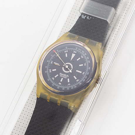 Swatch, turbine, wristwatch, 34 mm.