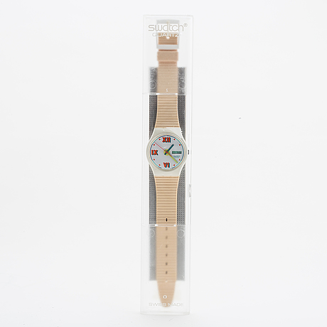 Swatch, short leave, wristwatch, 34 mm.