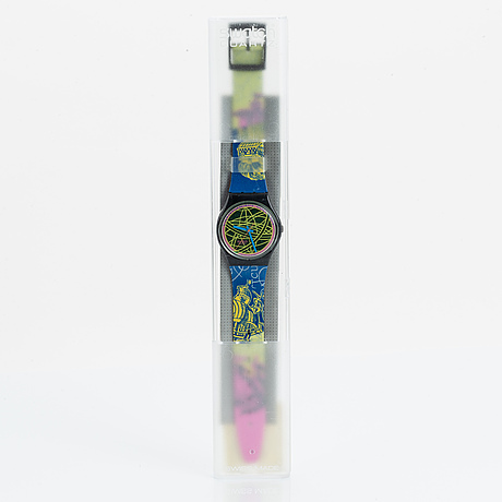 Swatch, the globe, wristwatch, 34 mm.