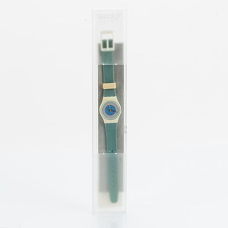 Swatch, ice mint, wristwatch, 25 mm.