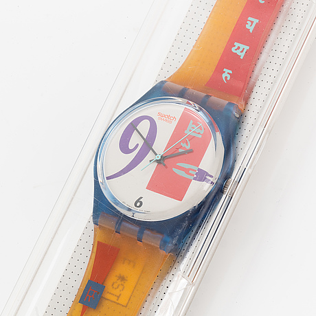Swatch, bold face, wristwatch, 34 mm.