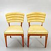 A pair of chairs, possibly t wolfenstein for ditzingers, 1940's.