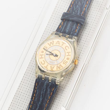 Swatch, bleached, wristwatch, 25 mm.