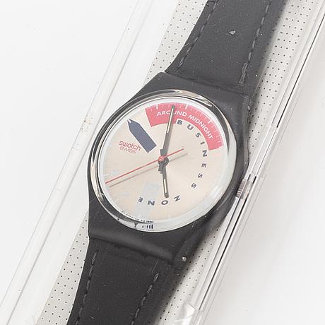 Swatch, tip tap, wristwatch, 34 mm.