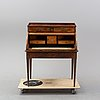 A louis xvi style mahogany marquetry cylinder bureau, first half of the 20th century.