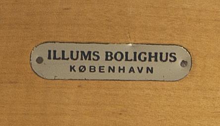 Armchair, denmark, brick marked illums bolighus, 50s-60s.
