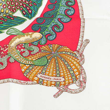 Hermès, a 'grands fonds' silk scarf.