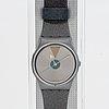 Swatch, glowing arrow, wristwatch, 34 mm.