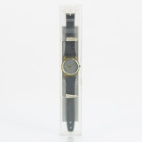 Swatch, snow white, wristwatch, 34 mm.